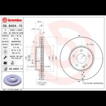 Brembo - 09.8404.11 - Féktárcsa első