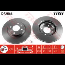 TRW - DF2586 - Féktárcsa első