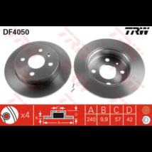 TRW - DF4050 - Féktárcsa hátsó