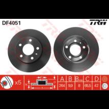 TRW - DF4051 - Féktárcsa hátsó
