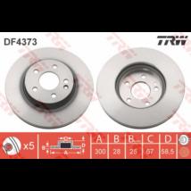 TRW - DF4373 - Féktárcsa első
