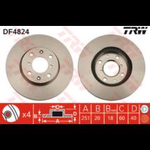 TRW - DF4824 - Féktárcsa első