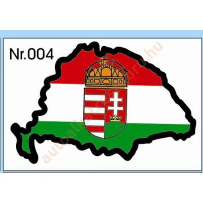 Matrica H nagy Magyarország címeres piros-fehér-zöld