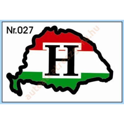 Matrica H nagy Magyarország  piros-fehér-zöld