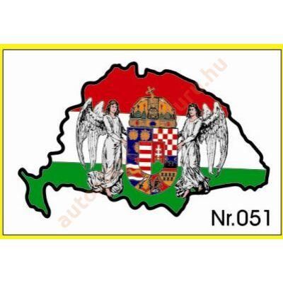 Matrica nagy Magyarország címeres műgyantás