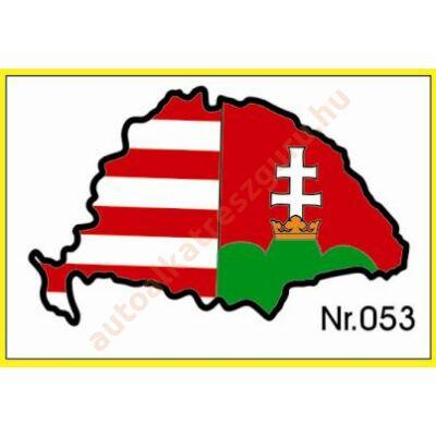 Matrica nagy Magyarország piros-fehér-zöld műgyantás