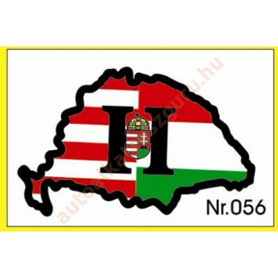 Matrica H nagy Magyarország címeres műgyantás