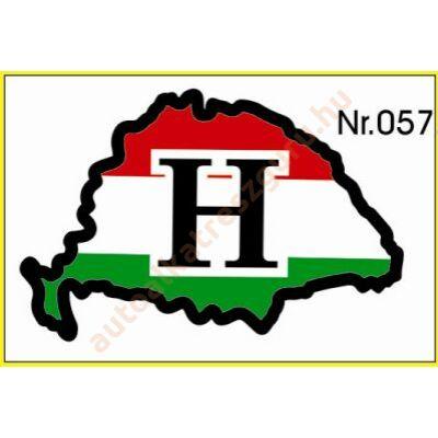 Matrica H nagy Magyarország műgyantás
