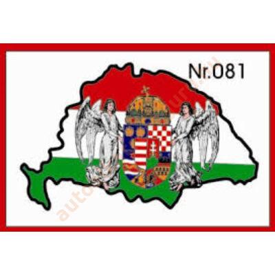 Matrica nagy Magyarország címeres műgyantás kicsi