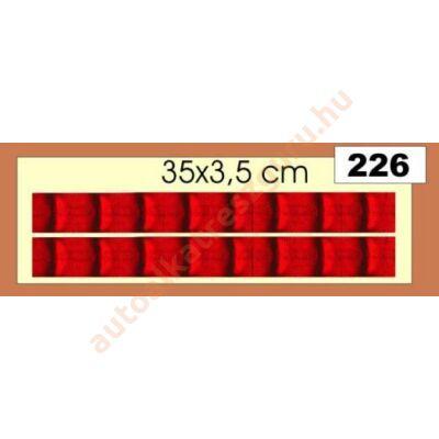 Matrica fényvisszaverőcsík piros hosszú