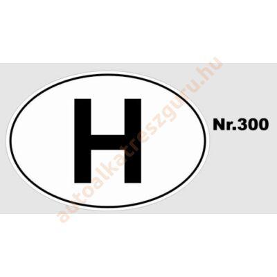 Matrica H nagy ovál fekete-fehér