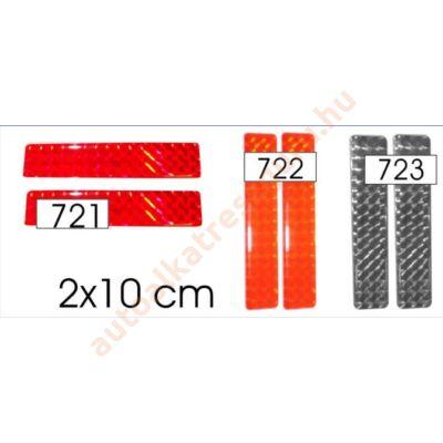 Matrica fényvisszaverőcsík műgyantás piros kicsi