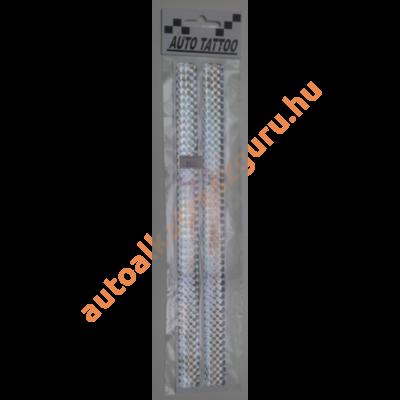 Matrica fényvisszaverőcsík műgyantás ezüst nagy
