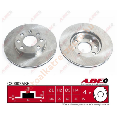 ABE - C30002ABE - Féktárcsa első