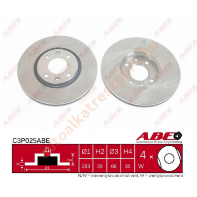 ABE - C3P025ABE - Féktárcsa első