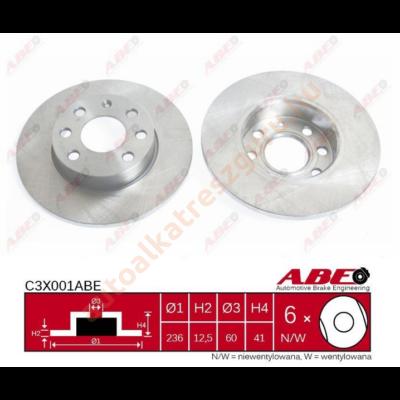 ABE - C3X001ABE - Féktárcsa első
