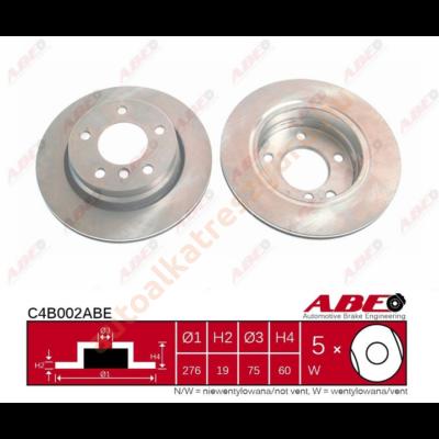 ABE - C4B002ABE - Féktárcsa hátsó