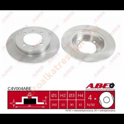 ABE - C4V004ABE - Féktárcsa hátsó