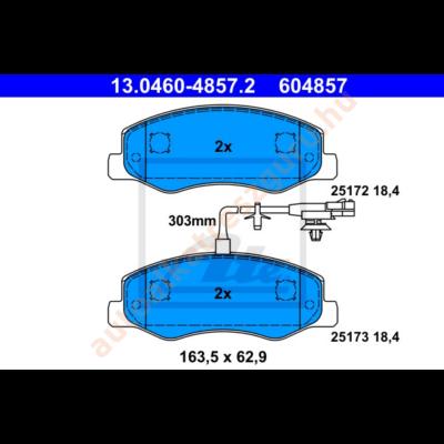 ATE - 13.0460-4857.2 - Fékbetét hátsó