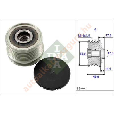 INA - 535010510 - Generátor szabadonfutó