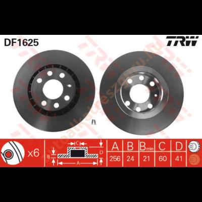 TRW - DF1625 - Féktárcsa első