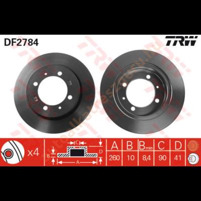 TRW - DF2784 - Féktárcsa hátsó