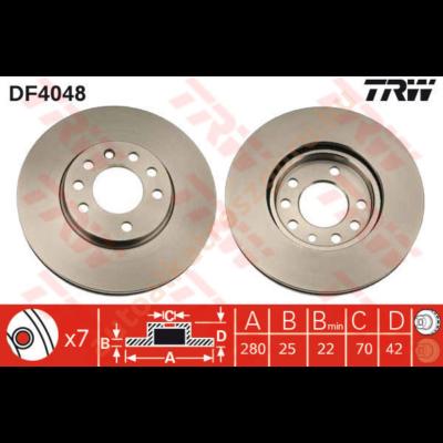 TRW - DF4048 - Féktárcsa első
